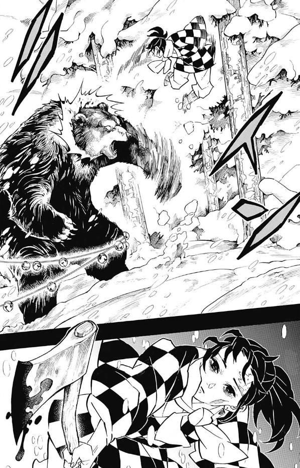 炭治郎 父 熊と戦うシーン