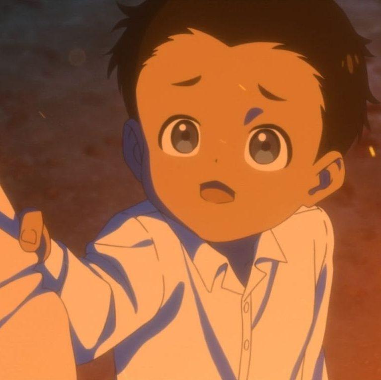 アニメ「約束のネバーランド」11話  裾を掴むフィル