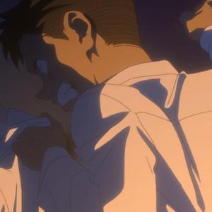 アニメ「約束のネバーランド」6話  拳を握るドン